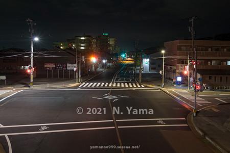 2021年7月3日、小坂町交差点