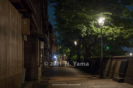 2021年7月3日、金沢市主計町