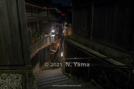2021年7月3日、金沢市主計町・あかり坂