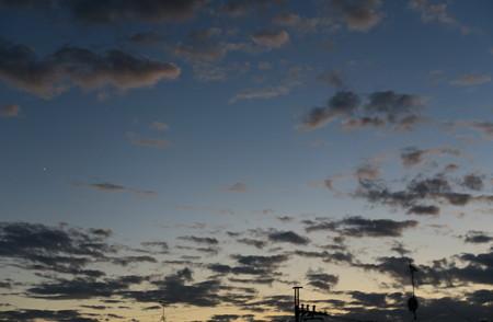 2021年9月_中秋の名月の夕空